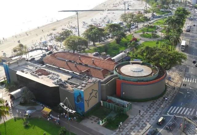 Aquário Municipal de Santos, SP, foi fechado para manutenção — Foto: G1