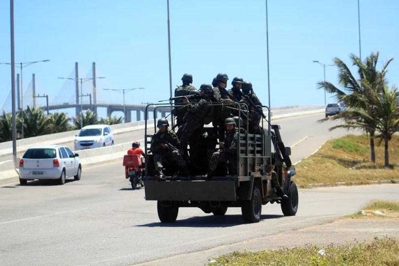 Tropas Federais serão enviadas a 97 municípios potiguares para reforçar a segurança nas eleições 2018 (Foto: Fabiano de Oliveira/ G1)