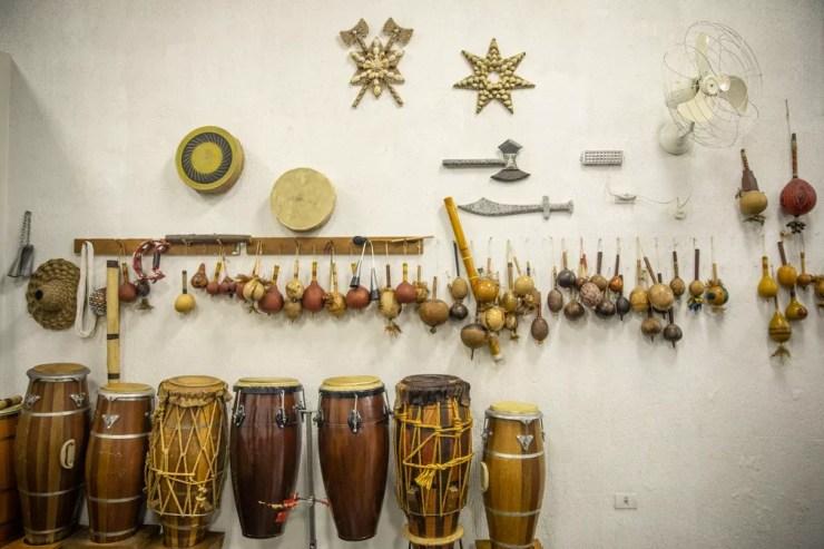 Objetos ritualísticos usados em terreiro na Zona Sul de SP  — Foto: Fábio Tito/G1