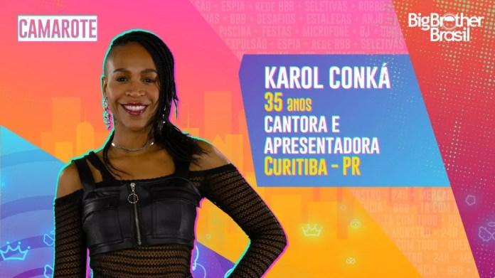 Karol Conká é participante do'BBB21' — Foto: TV Globo