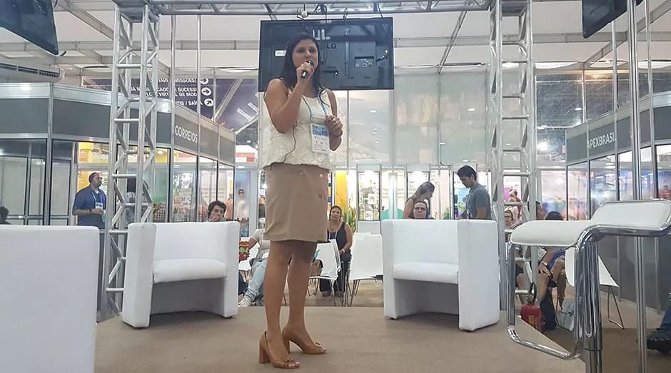 Camila, Amcham, Feira do Empreendedor (Foto: Débora Duarte)