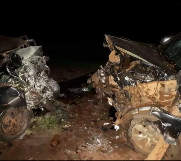 Batida entre caminhonete e carro matou vereador e outras 2 pessoas em Nova Ubiratã — Foto: Divulgação