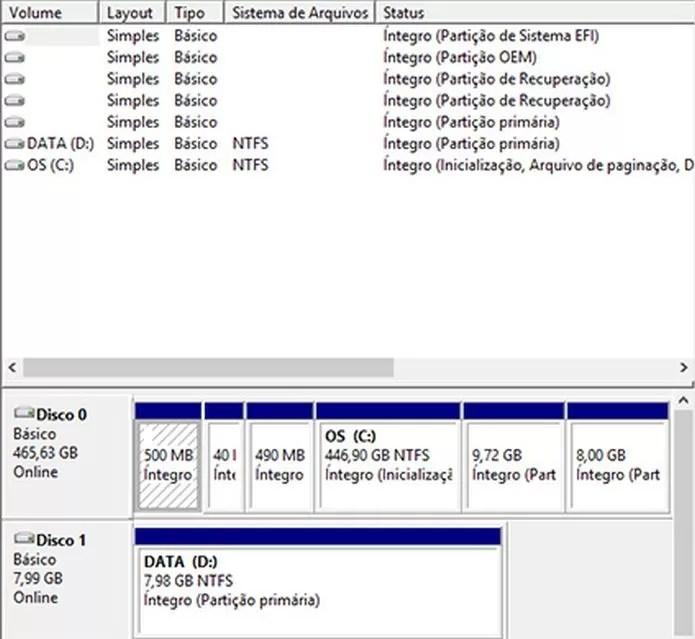 Formatação parcial do Windows pode selecionar determinadas partições (Foto: Reprodução/Pedro Zambarda)