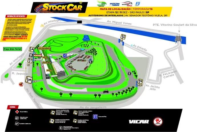 Mapa de ingressos para a final da Stock Car em Interlagos (Foto: Divulgação)
