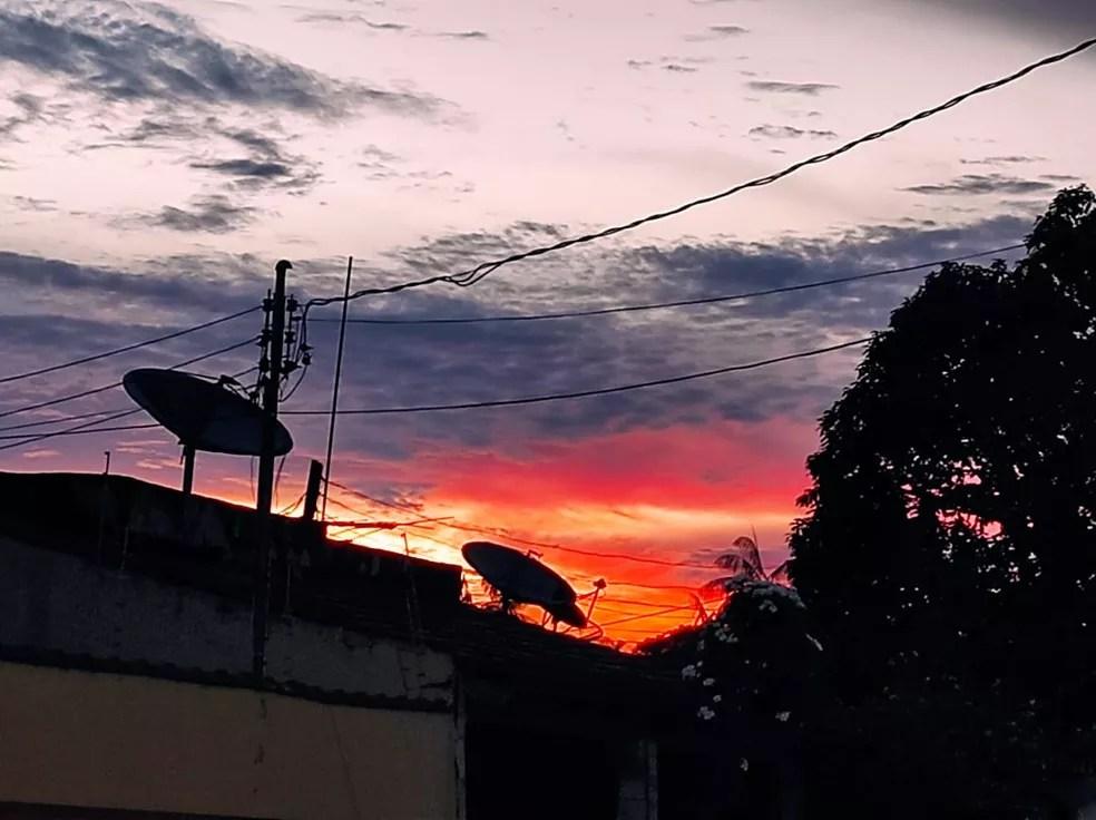 Sol aparece, mas temperaturas continuam amenas no Acre neste sábado (7) — Foto: Geisy Negreiros/ Arquivo pessoal