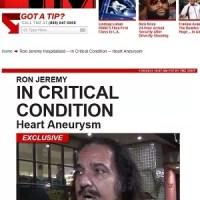 Astro pornô Ron Jeremy descansa após segunda cirurgia, diz site.