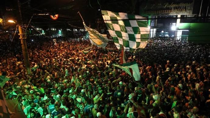 Festa do Palmeiras em São Paulo (Foto: MASAO GOTO FILHO/ESTADÃO CONTEÚDO)