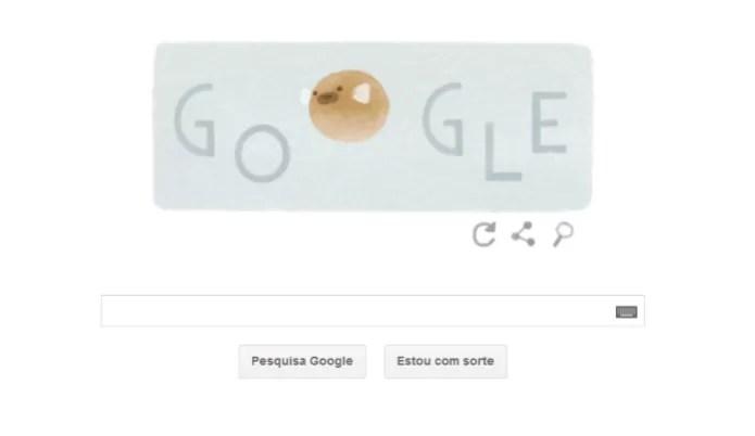 Doodle comemora Dia da Terra com ilustração de um baiacu (Foto: Reprodução/Google) (Foto: Doodle comemora Dia da Terra com ilustração de um baiacu (Foto: Reprodução/Google))