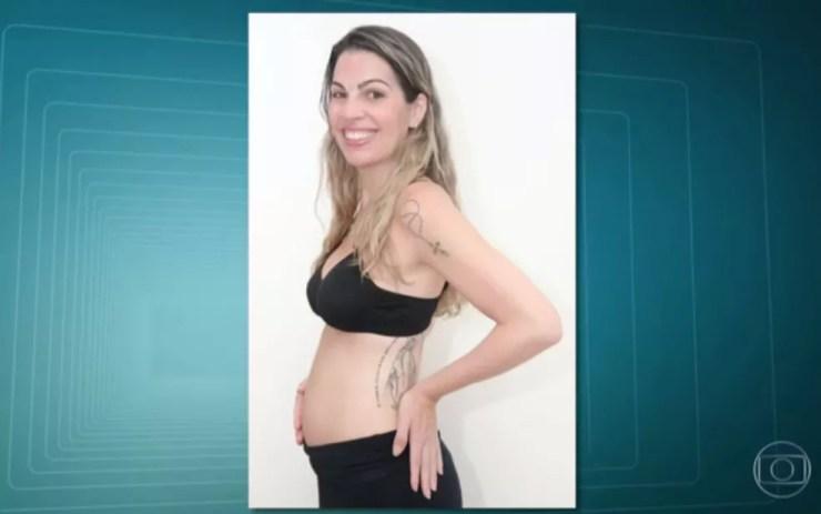 Serviço de localização de cadáveres foi utilizado para encontrar corpo carbonizado de farmacêutica no interior do RJ (Foto: Reprodução TV Globo)