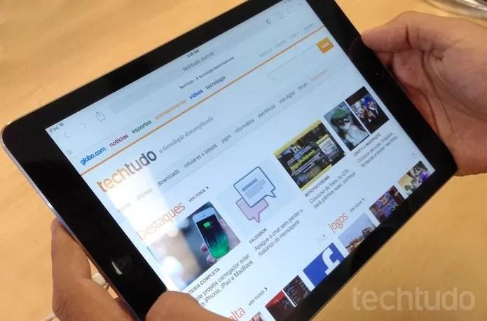 iPad Air, o novo tablet da Apple  (Foto:  Thiago Barros/TechTudo)