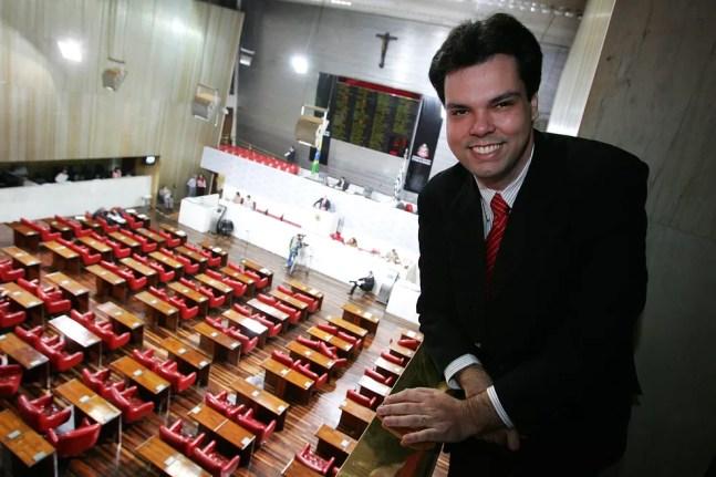 Bruno Covas na Assembleia Legislativa de São Paulo em foto de maio de 2006. — Foto: Sebastião Moreira/Estadão Conteúdo