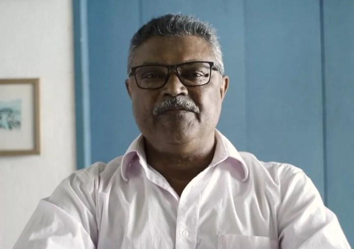 Gilbertinho Campos, candidato a prefeito pelo Psol  — Foto: Reprodução/TV Gazeta