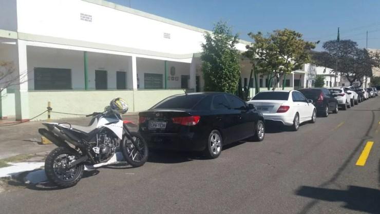 Moto e carros apreendidos na Operação Open Door (Foto: Diego Gavazzi/TV Rio Sul)