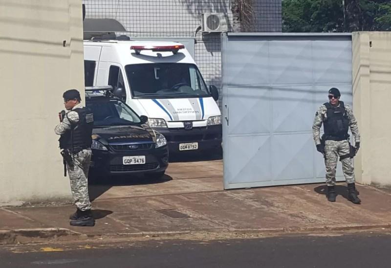 Gilmar Machado ficou preso em abril deste ano do Presídio Professor Jacy de Assis em Uberlândia (Foto: Fernanda Vieira/G1)