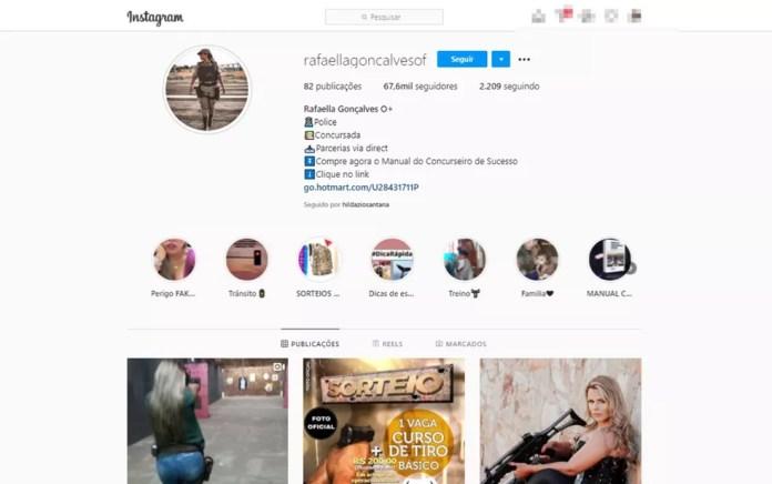 PM na Bahia tinha mais de 67 mil seguidores nas redes sociais — Foto: Reprodução/Instagram