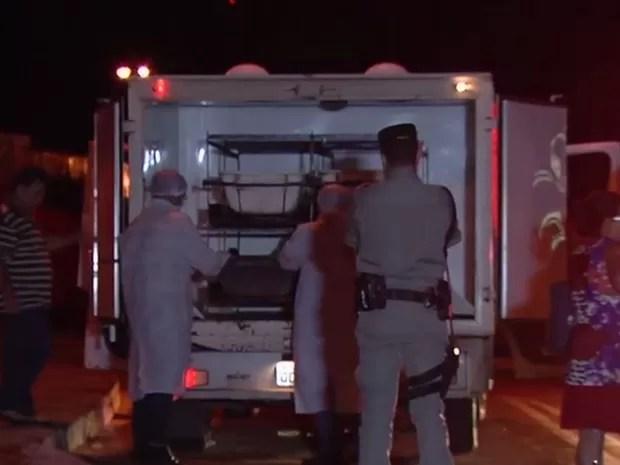 Um dos sete homicídios ocorreu no Jardim Curitiba III, em Goiânia, Goiás (Foto: Reprodução/TV Anhanguera)