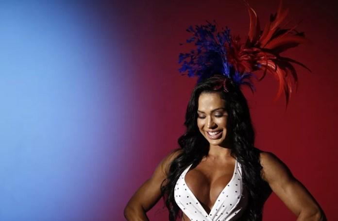 Gracyanne Barbosa, rainha de bateria da União da Ilha, em ensaio exclusivo do G1 — Foto: Marcos Serra Lima/G1