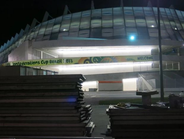 Arena Pernambuco Obras (Foto: Edgard Maciel De Sá)