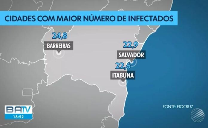Bahia é o estado com o maior número de casos do HTLV no país; vírus é da família do HIV e pode provocar leucemia — Foto: Reprodução/TV Bahia