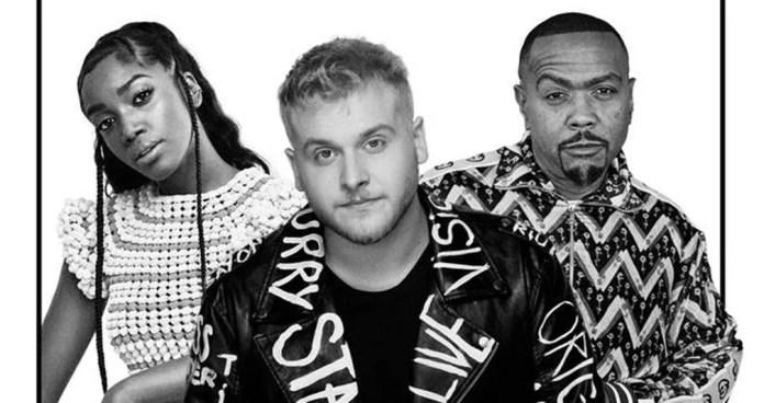 Capa do single 'Bend the knee', de Bruno Martini com Timbaland e Iza — Foto: Divulgação
