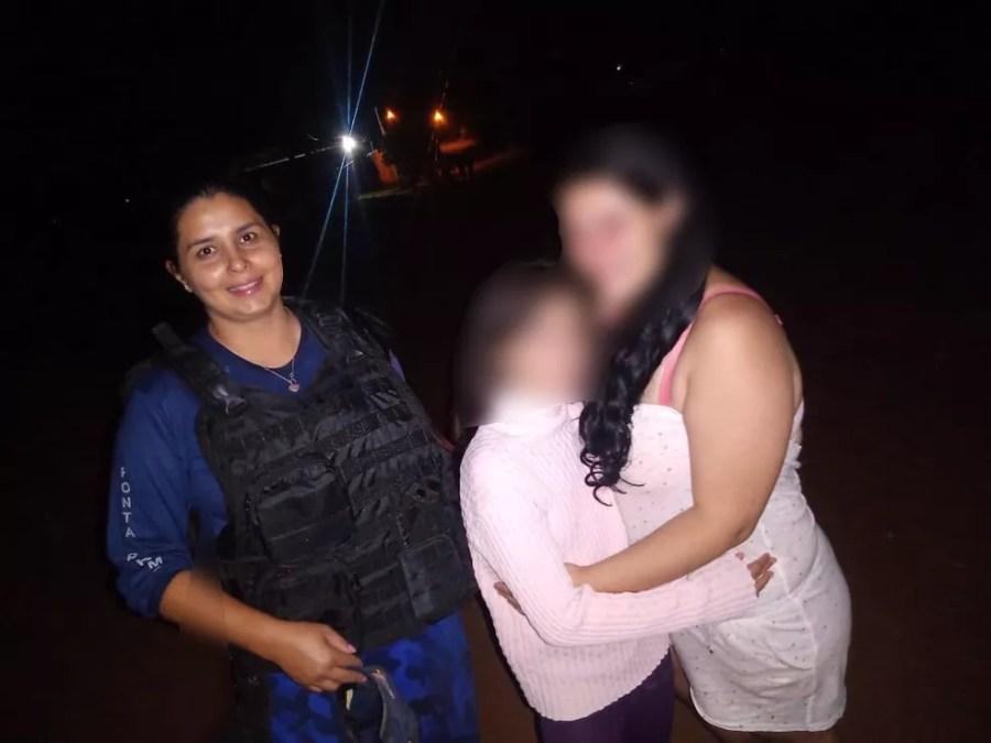 Menina de 11 anos desaparecida é encontrada dentro de matagal em MS — Foto: GCMFROM de PPR/Divulgação