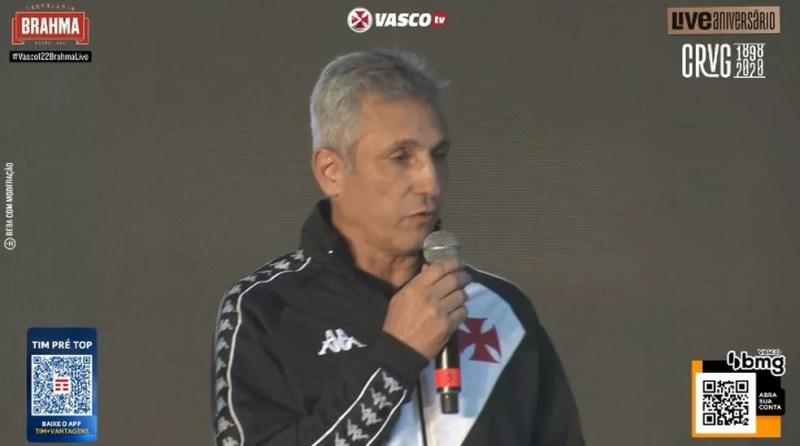 Campello falou sobre o futuro do do Vasco — Foto: Reprodução