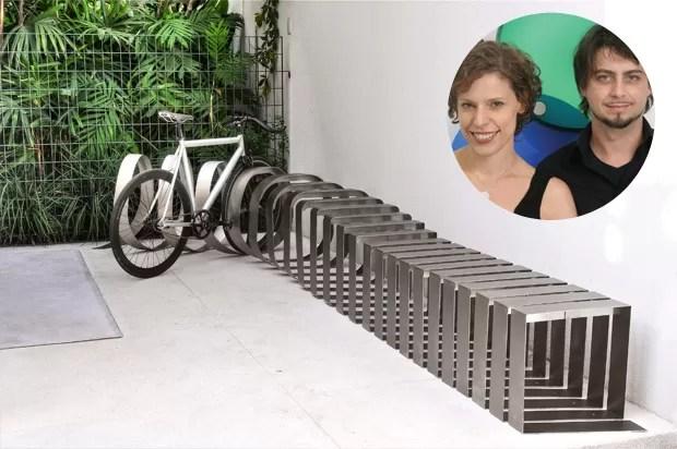 Bicicletários de design (Foto: Juan Guerra e divulgação)