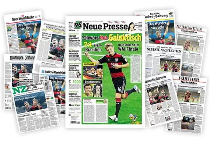 montagem - capas de jornais alemanha (Foto: Editoria de Arte)