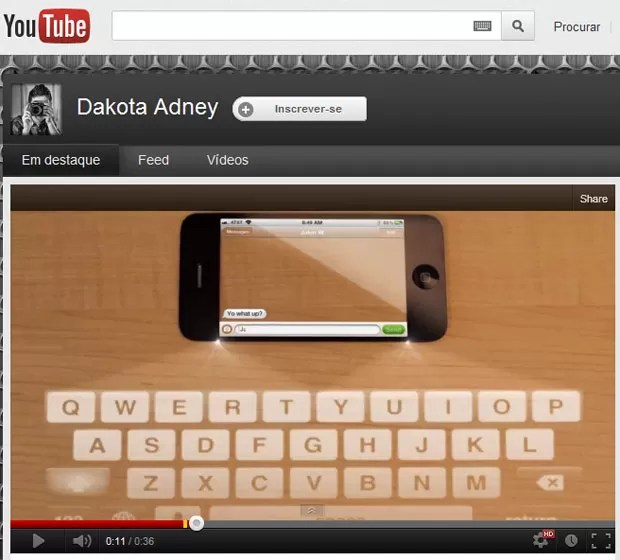 Na criação do adolestente, iPhone 5 poderá projetar teclado em superfícies lisas (Foto: Reprodução)