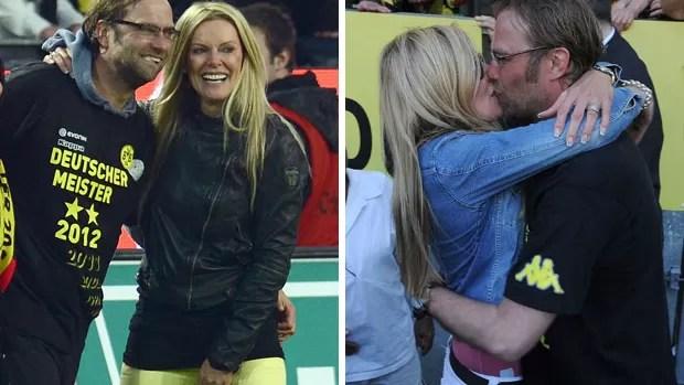 Klopp e a esposa Ulla Borussia Dortmund (Foto: AFP)