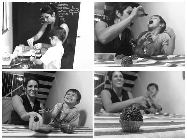 Receita de brigadeiro é a favorita do filho (Foto: Carlos Dias/G1)