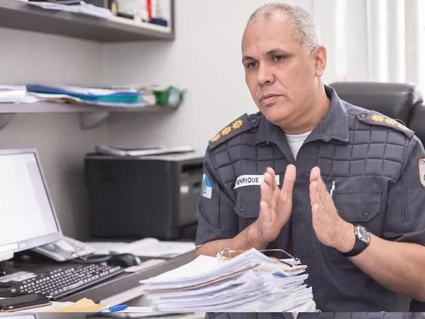 Coronel Luís Henrique Marinho Pires disse que folgas serão suspensas (Foto: Divulgação PMERJ / Fernando Vicente)