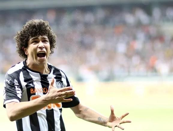 Luan gol Atlético-MG (Foto: Cristiane Mattos / Futura Press)