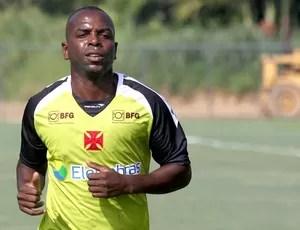 Sandro Silva no treino do Vasco (Foto: Marcelo Sadio / Site do Vasco)