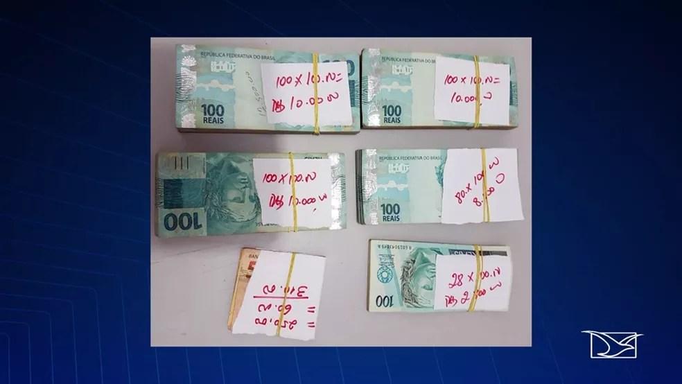 Polícia Civil fez na quarta-feira (3) um depósito no valor de R$ 40 mil e 110 na conta do Tribunal de Justiça Maranhão (Foto: Reprodução/TV Mirante)