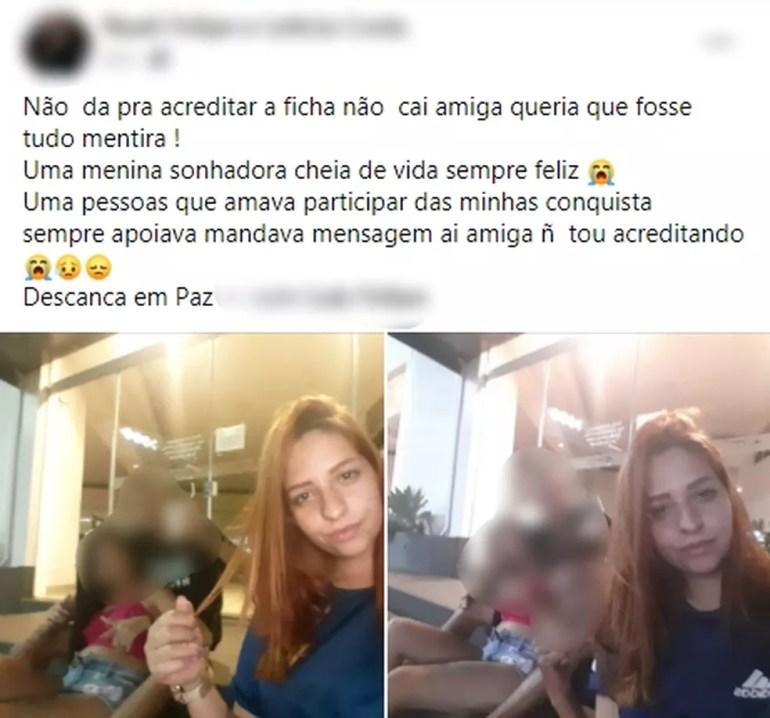Amigos lamentaram a morte da jovem de Jaú nas redes sociais — Foto: Facebook/Reprodução