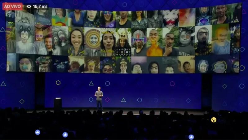 Filtros e efeitos 3D estarão disponíveis na câmera do Facebook em breve (Foto: Divulgação/Facebook)