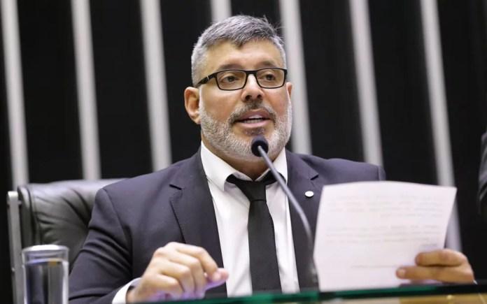 O deputado Alexandre Frota (PSL-SP), durante sessão na Câmara em maio — Foto: Michel Jesus/Câmara dos Deputados