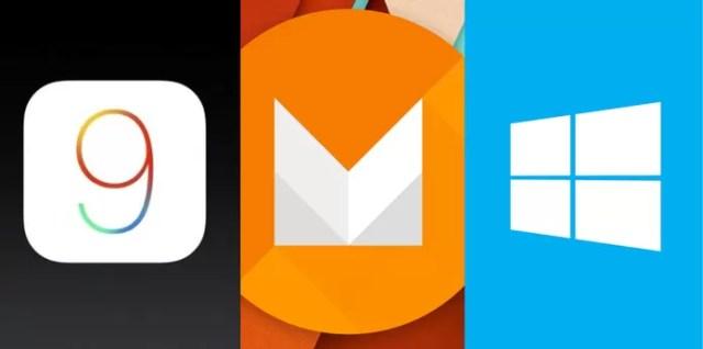 Android M, iOS 9 ou Windows 10 Mobile: qual é o sistema operacional mais inovador? (Foto: Arte/TechTudo)