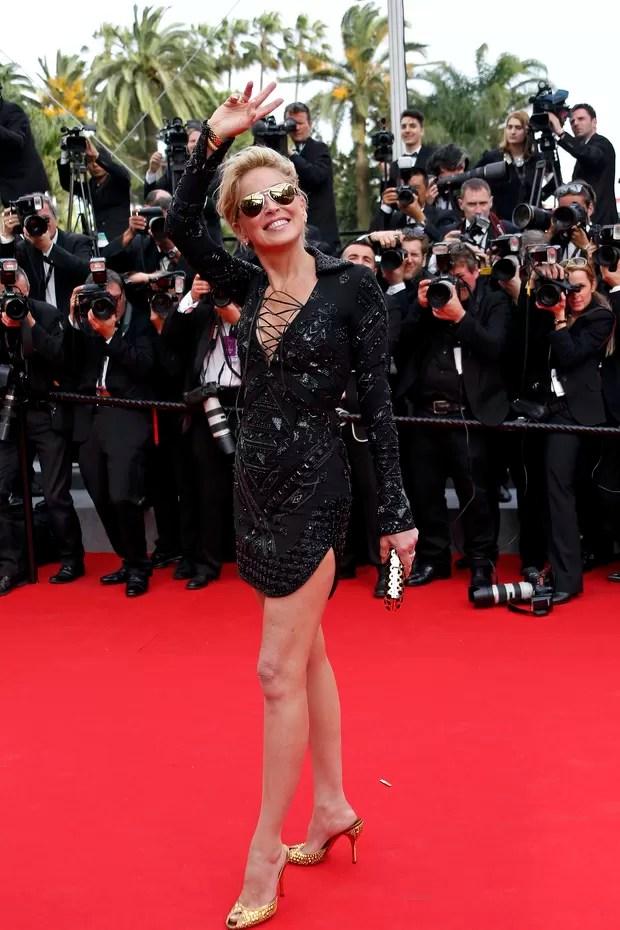 Sharon Stone no Festival de Cannes (Foto: Reuters)