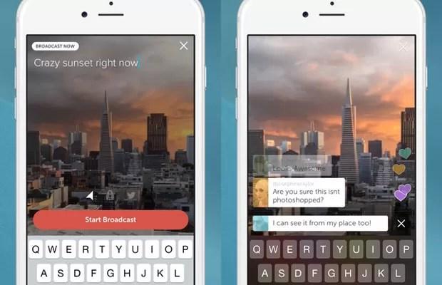 Periscope, app do Twitter que faz transmissões em vídeo ao vivo. (Foto: Divulgação/Twitter)