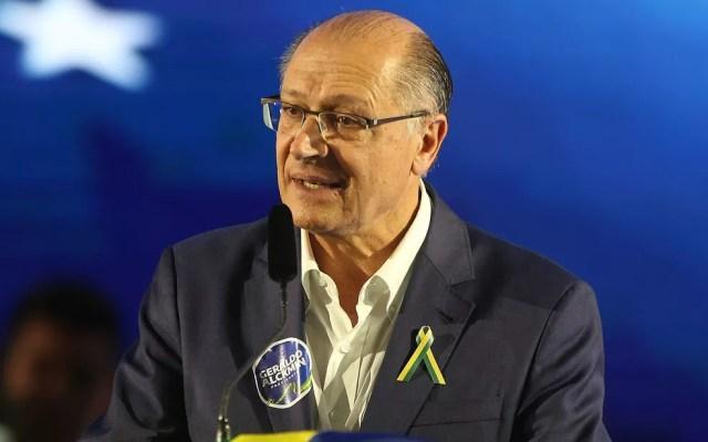 O ex-governador de SP Geraldo Alckmin durante convenção do PSDB, em Brasília (Foto: Dida Sampaio/Estadão Conteúdo)