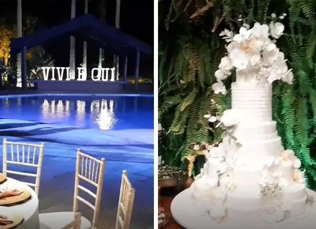 Detalhes da decoração do casamento de Viviane Araújo e Guilherme Militão (Foto: Reprodução Instagram)