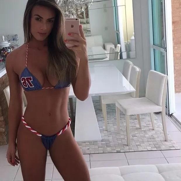 Nicole já havia mostrado o look da praia no Instagram (Foto: instagram/divulgação)