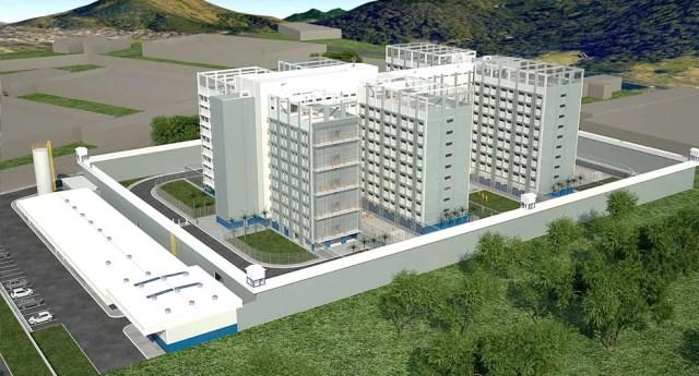 Cada um dos prédios comporta entre 3.456 e 5 mil internos   — Foto: Divulgação/Seap