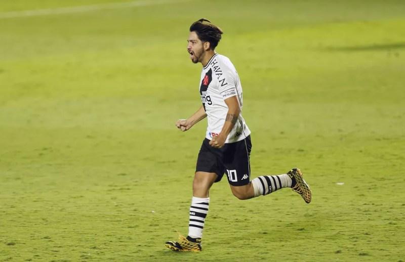 Benítez comemora gol marcado pelo Vasco — Foto: Rafael Ribeiro/Vasco