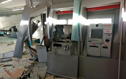 Explosões a agências representaram 60 das 190 investidas criminosas contra bancos em Pernambuco em 2018 — Foto: Reprodução/WhatsApp