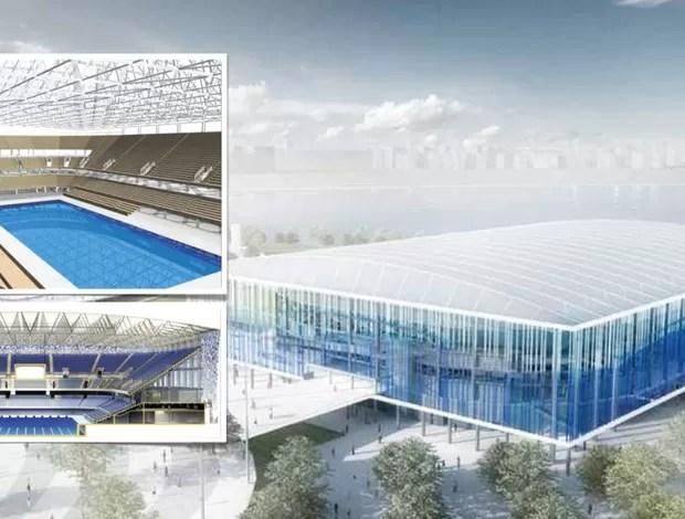 centro aquatico projeto olimpiadas (Foto: Divulgação)