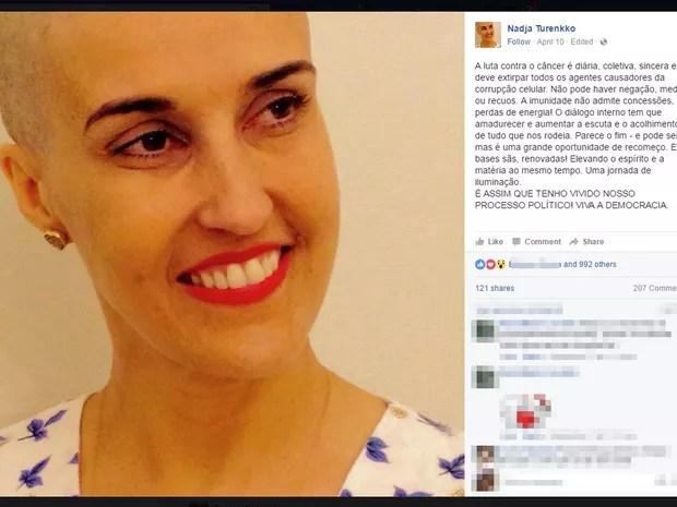 Nadja estudou teatro na França e trouxe técnica de mímica corporal dramática (Foto: Reprodução/ Facebook)