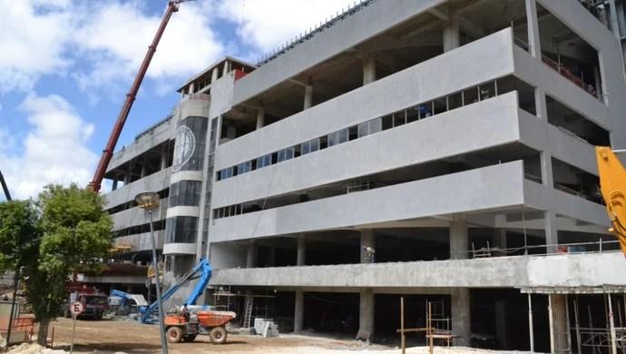 Arena da Baixada Atlético-PR 19 de fevereiro fachada (Foto: Site oficial do Atlético-PR/Divulgação)